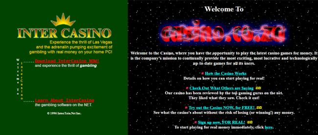 first online casino (screenshot)