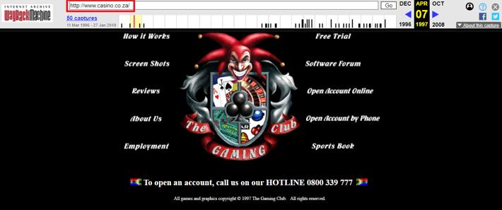Gaming Club First Screenshot on Casino.co.za
