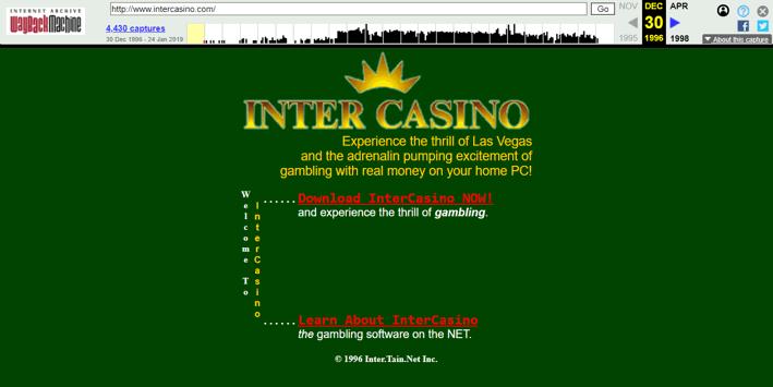 InterCasino First Screenshot