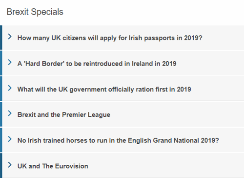 Paddy Power Brexit Specials