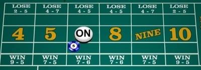 Craps Number Bets