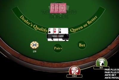 Three Card Poker Check cards