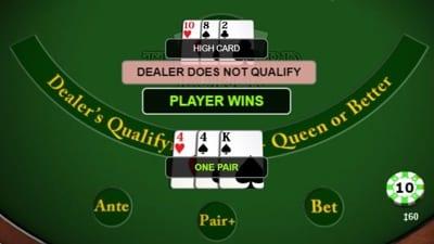 Three Card Poker Dealer Plays