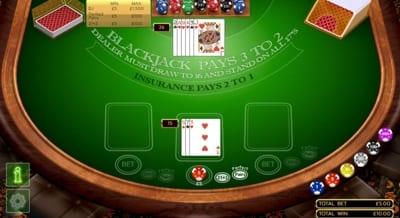 Blackjack mid-game
