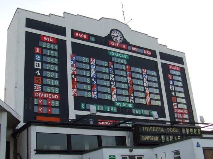 Scoreboard at Walthamstow Stadium