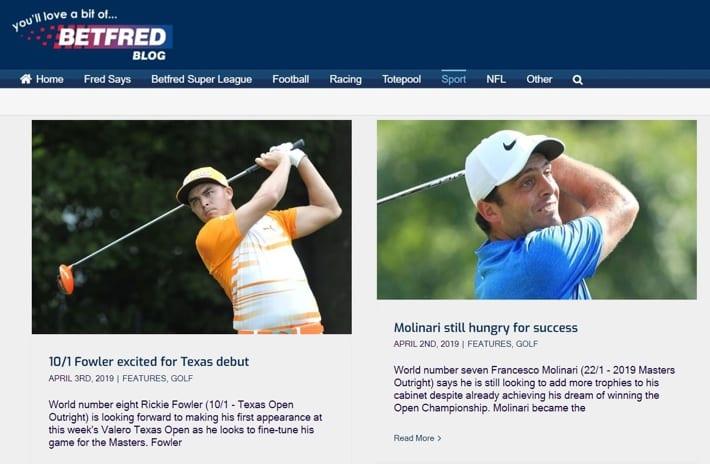 Golf Blog Information