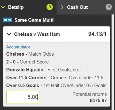 Max Payout acca Example