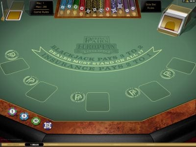 Microgaming Blackjack Perfect Pairs Euro