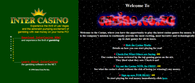 first online casino (screenshot)