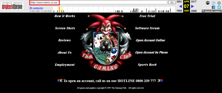 Gaming Club First Screenshot on Casino.co.za