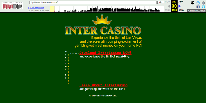 InterCasino First Screenshot