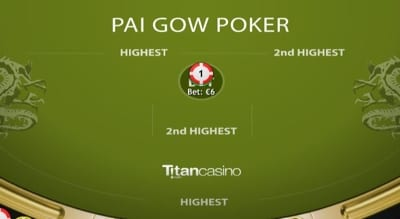 Pai Gow Place Bets