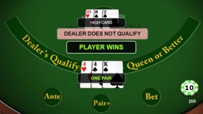Three Card Poker Dealer Plays
