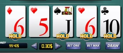 Video Poker Hold
