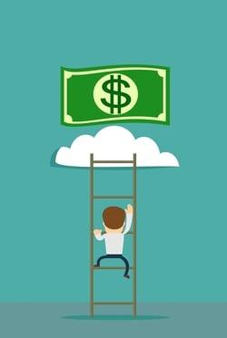 Poker Climbing Money Ladder