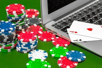 Poker Chips and Computer