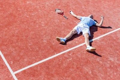 Tennis Injury Retire