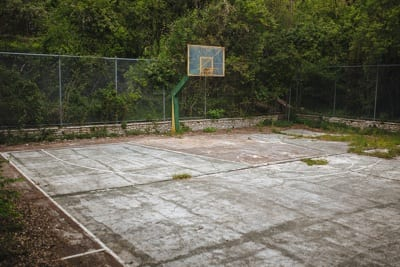 Abandoned Basketball Court