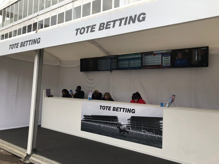 Tote Betting Stand at the 2019 Cheltenham Festival