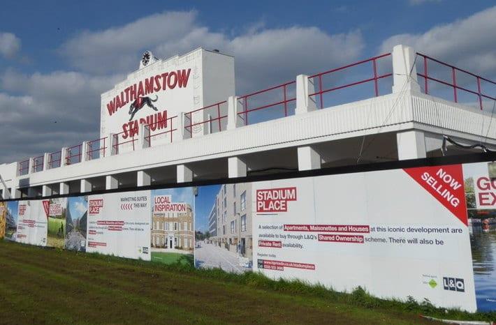 Walthamstow Stadium Housing Signs