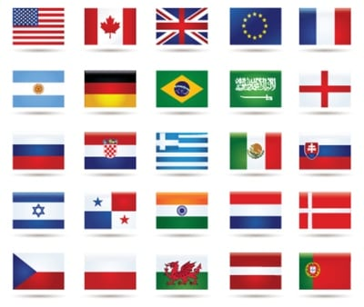 Golf National Flags