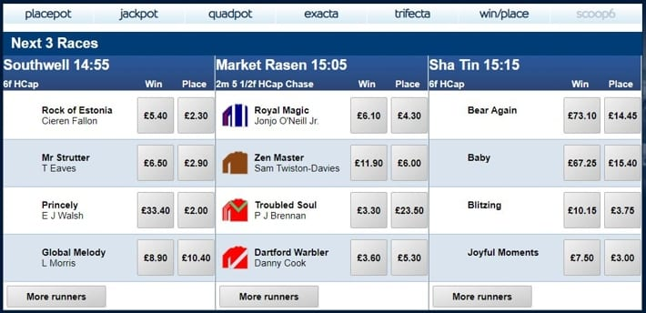 Horse Racing Tote Betting