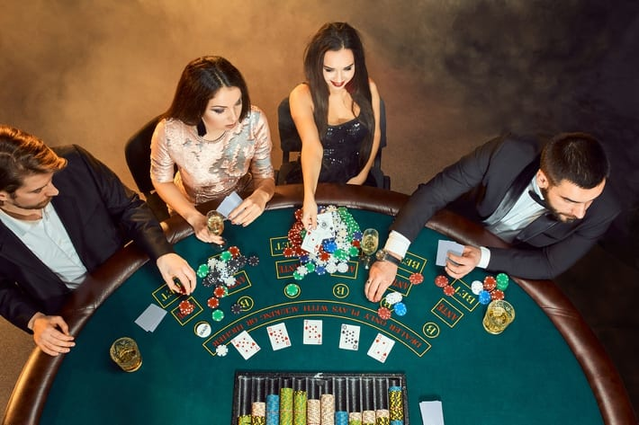 Players at a Blackjack table