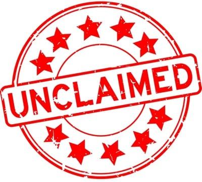 Unclaimed stamp