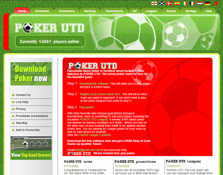 PokerUTD.com Screenshot