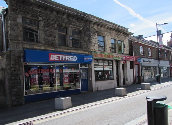 Betfred betting shop in Bargoed