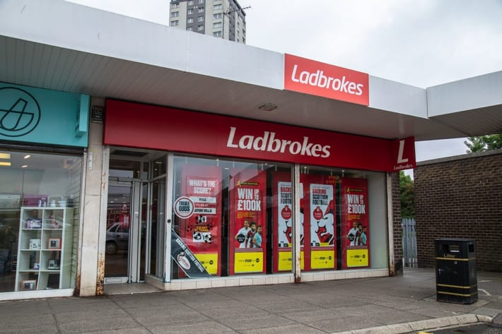 Ladbrokes betting shop in Glasgow