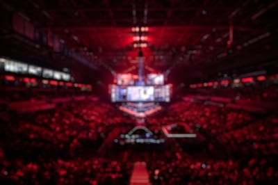 Blurred esports competition