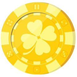 Lucky poker chip