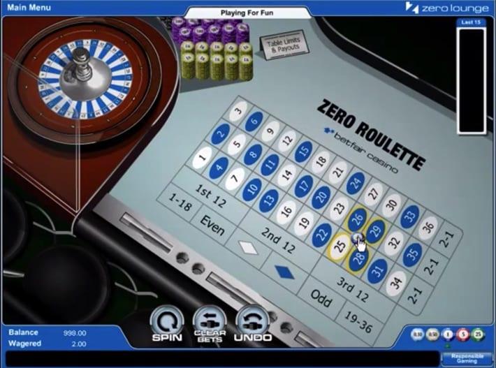 Betfair's Zero Roulette