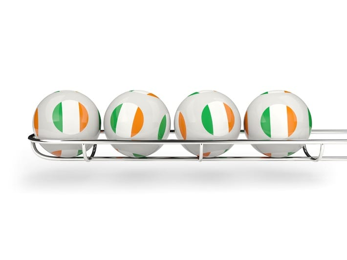 Flag of Ireland on lottery balls
