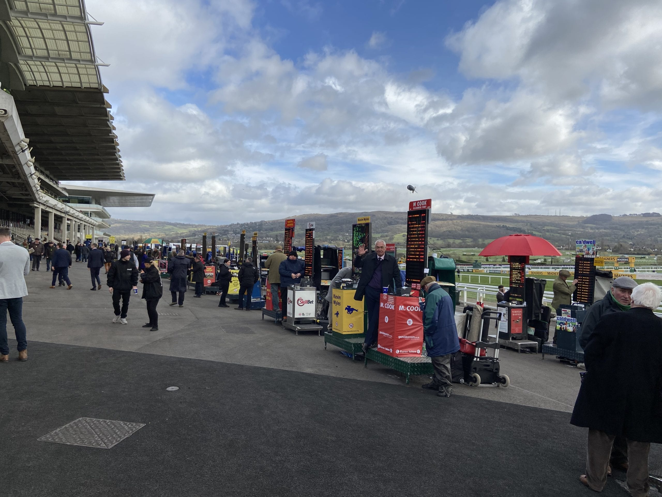 Independent bookies at Cheltenham Racecourse