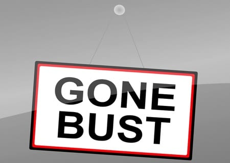 Gone bust sign