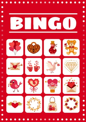 Bingo love card