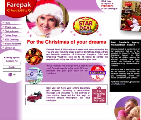 Farepak Christmas hampers