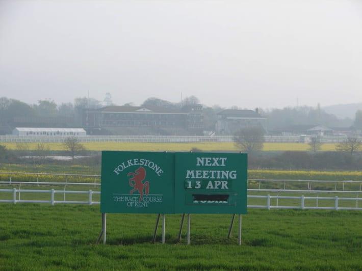Sign at Folkestone Racecourse