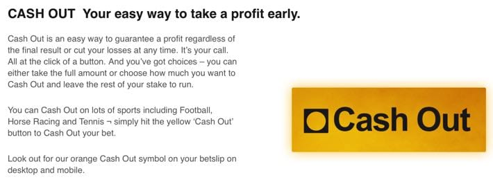Betfair's Cash Out feature explained