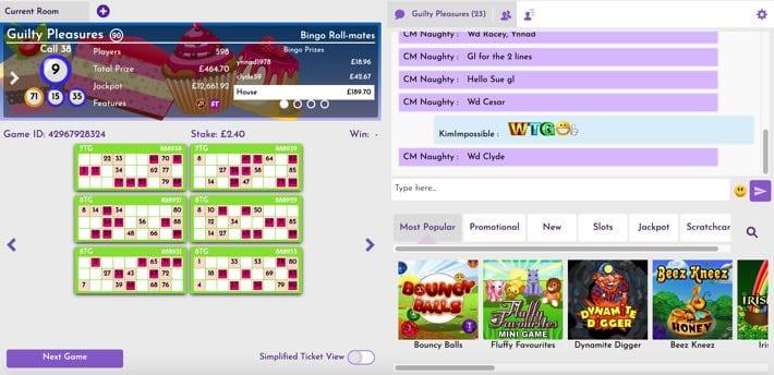 Bingo lobby screenshot