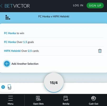 BetVictor's Bet Builder