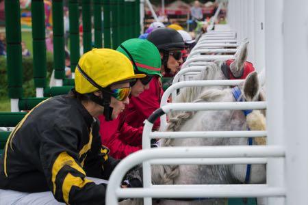 Jockeys at the start line
