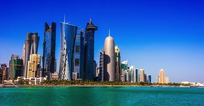 Waterfront in Doha, Qatar