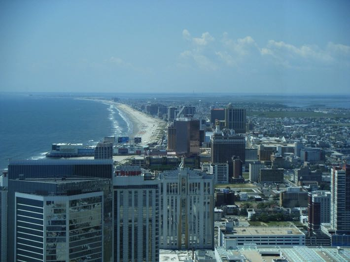 Atlantic City with Trump Tower in view