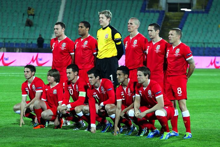 Wales National Football team in 2011