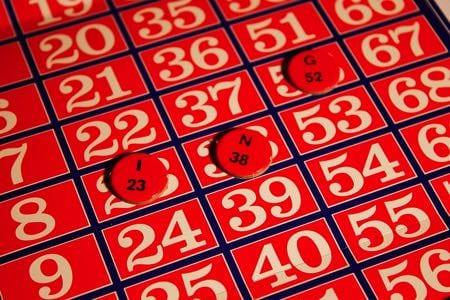 Bingo card and numbers