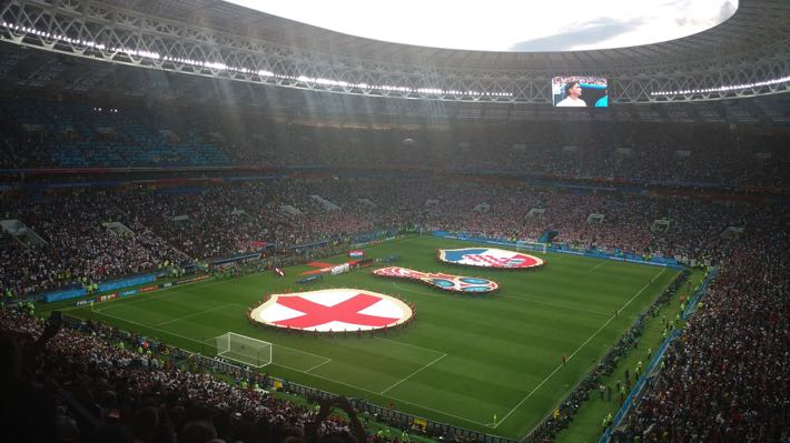 England v Crotia at the 2018 FIFA World Cup