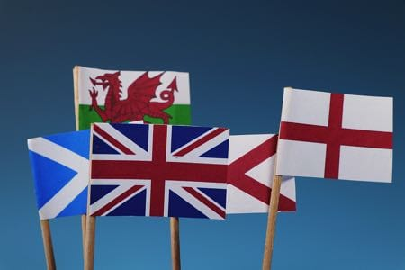 Home nations flags